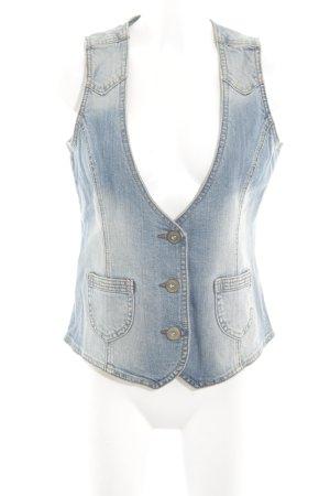 s.Oliver Denim Vest neon blue jeans look