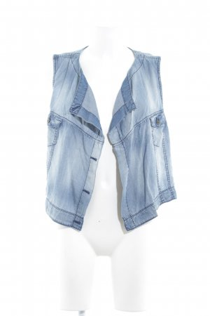 s.Oliver Gilet en jean bleu azur style urbain