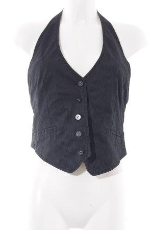s.Oliver Gilet en jean noir-gris rayure fine style décontracté