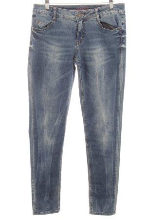 s.Oliver Jeggings stahlblau-blassblau Jeans-Optik