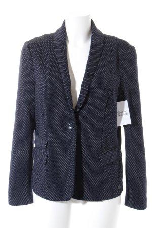 s.Oliver Jerseyblazer weiß-dunkelblau Punktemuster Casual-Look