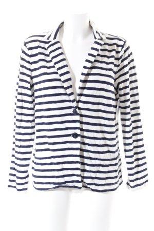 s.Oliver Jerseyblazer weiß-dunkelblau Streifenmuster Casual-Look