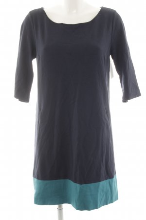 s.Oliver Robe en jersey bleu foncé-turquoise style décontracté
