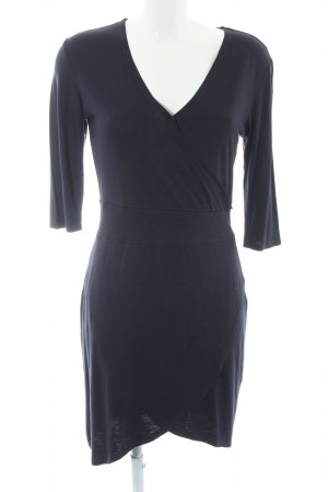 s.Oliver Jersey Dress dark blue wrap look