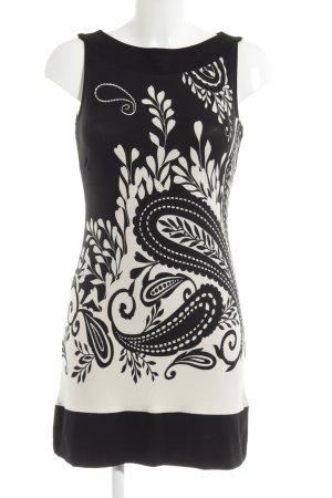 s.Oliver Vestido de tela de jersey negro-blanco puro estampado floral Paris-Look