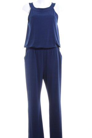 s.Oliver Jumpsuit blau-schwarz Webmuster Casual-Look