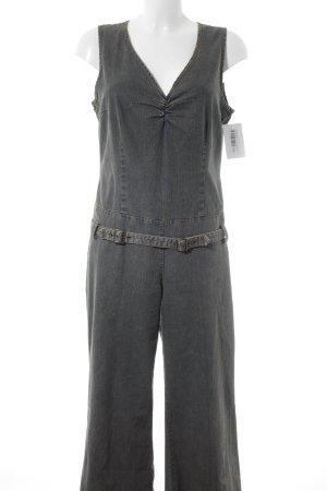 s.Oliver Jumpsuit kornblumenblau-graugrün Jeans-Optik