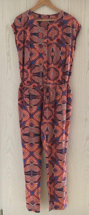 S'Oliver Jumpsuit sommerlich blau rot gemustert