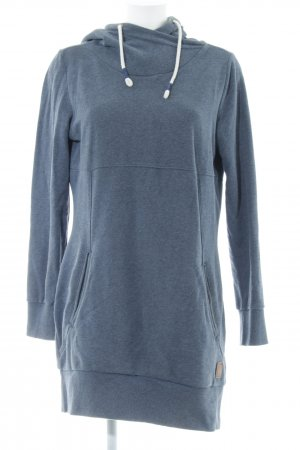 s.Oliver Hooded Dress slate-gray-cornflower blue flecked casual look