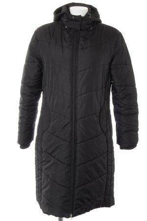 s.Oliver Hooded Coat black street-fashion look