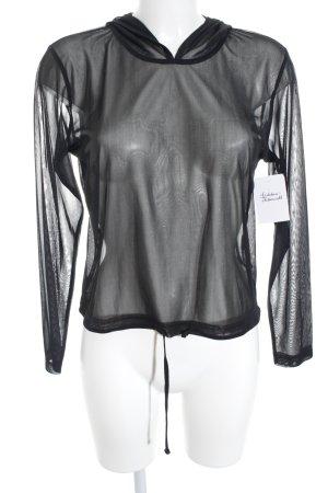 s.Oliver Jersey con capucha negro-color plata brillante