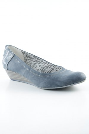s.Oliver Keil-Pumps graublau Casual-Look