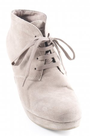 s.Oliver Zapatos de cuña marrón grisáceo look casual