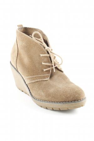 s.Oliver Keil-Stiefeletten camel Casual-Look
