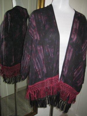 QS by s.Oliver Fringed Vest black-purple