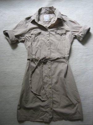 s.oliver kleid blusenkleid gr. s/m sandbraun safari