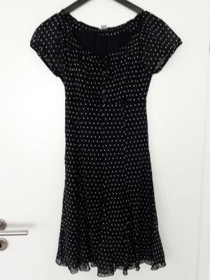 S.oliver Kleid, schwarz, weisse Punkte, Gr. 36