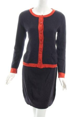 s.Oliver Kostüm dunkelblau-dunkelorange klassischer Stil