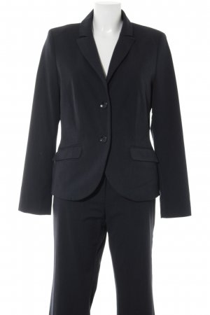 s.Oliver Ladies' Suit dark blue striped pattern business style