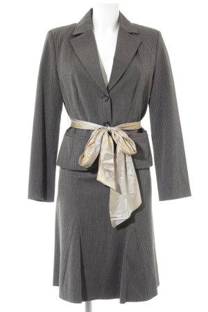 s.Oliver Ladies' Suit dark grey pinstripe elegant