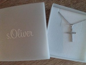 s.Oliver Collier Necklace light grey real silver