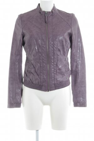 s.Oliver Faux Leather Jacket mauve casual look