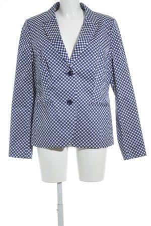 s.Oliver Kurz-Blazer blau-weiß Punktemuster extravaganter Stil