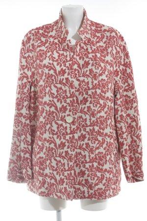 s.Oliver Kurz-Blazer wollweiß-rot florales Muster Elegant