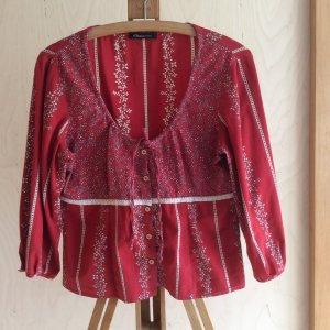 s.Oliver, Kurz Bluse, rot mit Blümchen