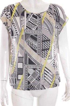 s.Oliver Kurzarm-Bluse abstraktes Muster extravaganter Stil