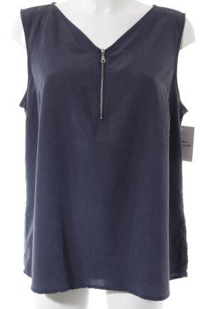 s.Oliver Kurzarm-Bluse dunkelblau Casual-Look