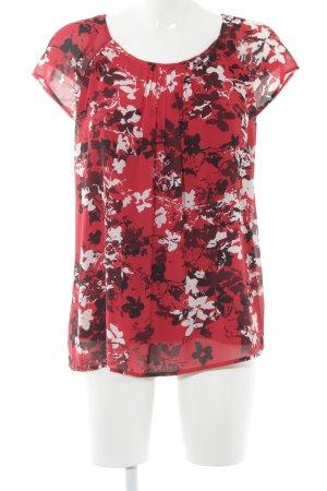 s.Oliver Kurzarm-Bluse florales Muster Elegant