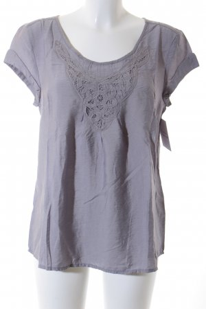 s.Oliver Kurzarm-Bluse grau Casual-Look