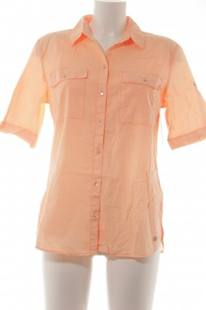 s.Oliver Kurzarm-Bluse neonorange Casual-Look