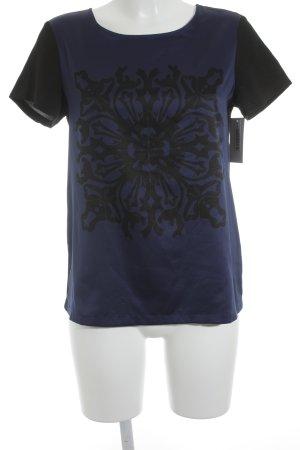s.Oliver Kurzarm-Bluse schwarz-blau Casual-Look