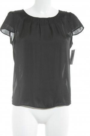 s.Oliver Kurzarm-Bluse schwarz Casual-Look