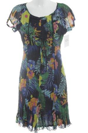 s.Oliver Kurzarmkleid florales Muster Gypsy-Look