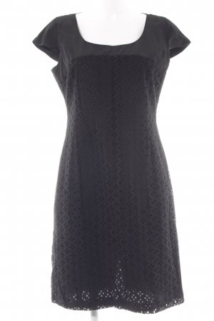 s.Oliver Vestido de manga corta negro look casual