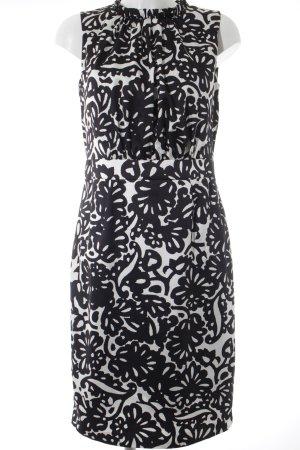 s.Oliver Kurzarmkleid schwarz-weiß abstraktes Muster Elegant