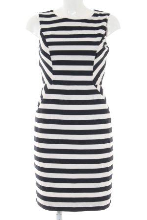 s.Oliver Kurzarmkleid schwarz-weiß Streifenmuster Elegant