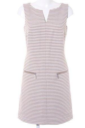 s.Oliver Kurzarmkleid weiß-beige Streifenmuster Elegant