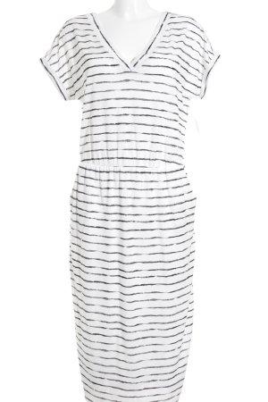s.Oliver Kurzarmkleid weiß-schwarz Streifenmuster Beach-Look