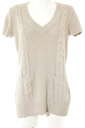 s.Oliver Kurzarmpullover beige Casual-Look