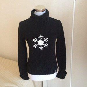 S. Oliver Kuschel Schneeflocken Pullover Weiß 38 Weich Warm Weihnachten Winter