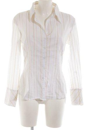 s.Oliver Langarm-Bluse weiß-creme Streifenmuster Business-Look