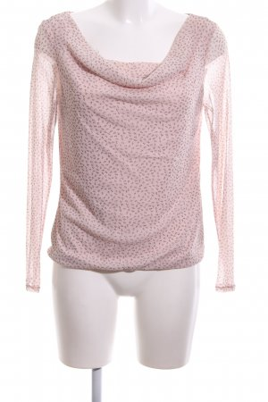 s.Oliver Langarm-Bluse pink Allover-Druck Elegant