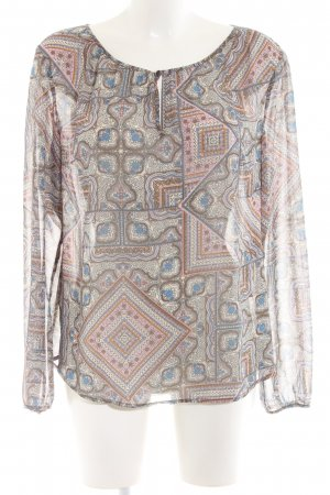 s.Oliver Langarm-Bluse Mustermix Casual-Look