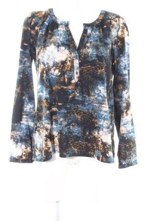 s.Oliver Langarm-Bluse abstraktes Muster Elegant