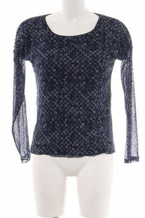 s.Oliver Langarm-Bluse blau Allover-Druck Casual-Look