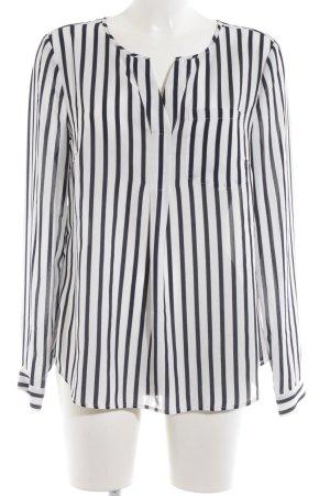s.Oliver Langarm-Bluse schwarz-weiß Streifenmuster Business-Look